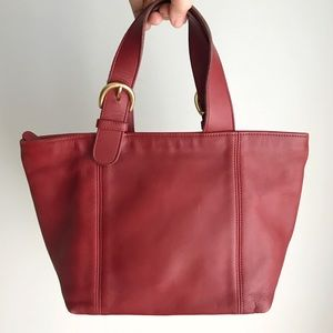 Vintage COACH Red Soho Waverly Tote Purse Bag